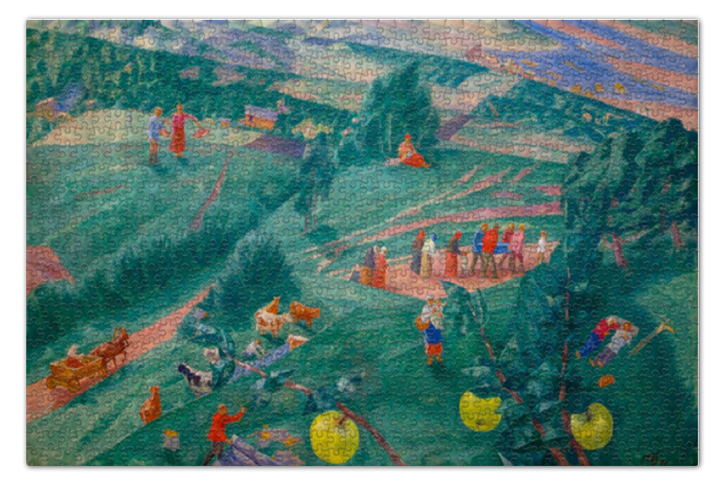 Пазл 73.5 x 48.8 (1000 элементов) Printio Полдень (петров-водкин) пазл 73 5 x 48 8 1000 элементов printio сад земных наслаждений