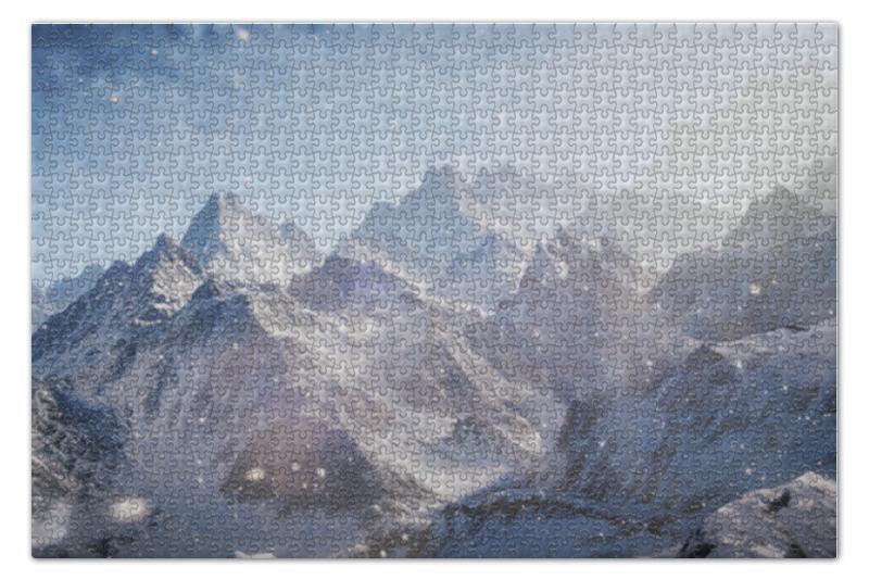Пазл 73.5 x 48.8 (1000 элементов) Printio Mountains пазл 73 5 x 48 8 1000 элементов printio в парке иван шишкин