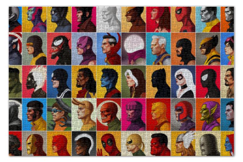 Пазл 73.5 x 48.8 (1000 элементов) Printio Marvel heroes пазл 73 5 x 48 8 1000 элементов printio фруктовый сад весной