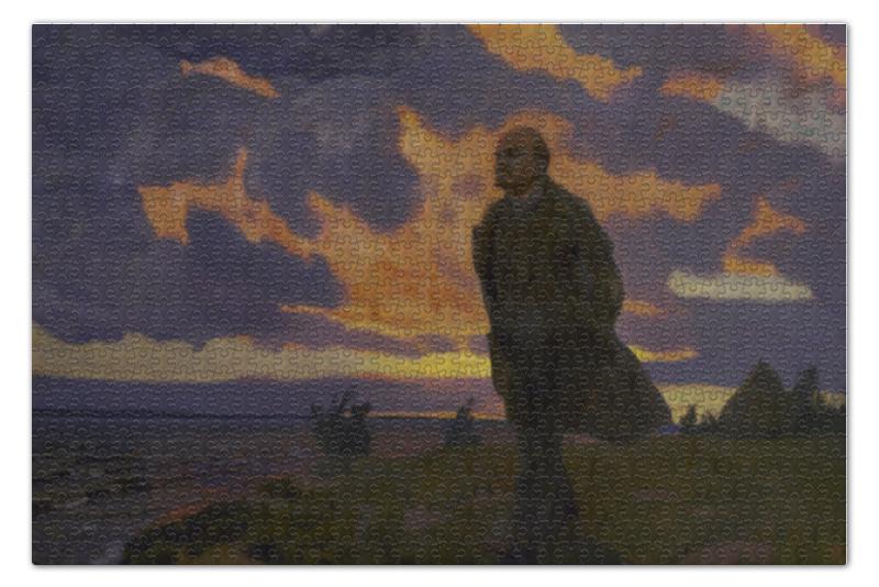 Пазл 73.5 x 48.8 (1000 элементов) Printio В. и. ленин в разливе в 1917 году (аркадий рылов) обвал смута 1917 года глазами русского писателя