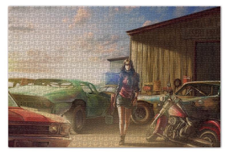 Пазл 73.5 x 48.8 (1000 элементов) Printio Garage пазл 73 5 x 48 8 1000 элементов printio спящая красавица