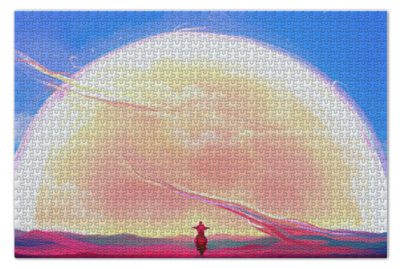 Пазл 73.5 x 48.8 (1000 элементов) Printio Digital пазл оригами арт терапия кошка 360 элементов