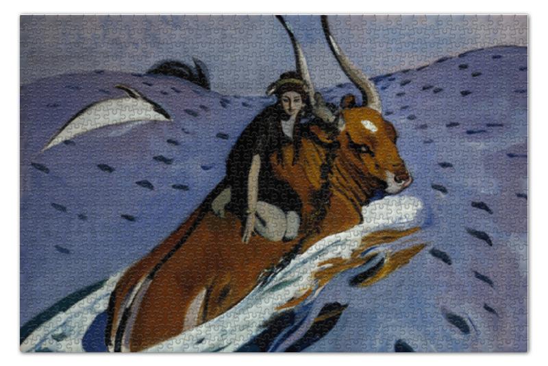 Пазл 73.5 x 48.8 (1000 элементов) Printio Похищение европы (картина серова) цены онлайн