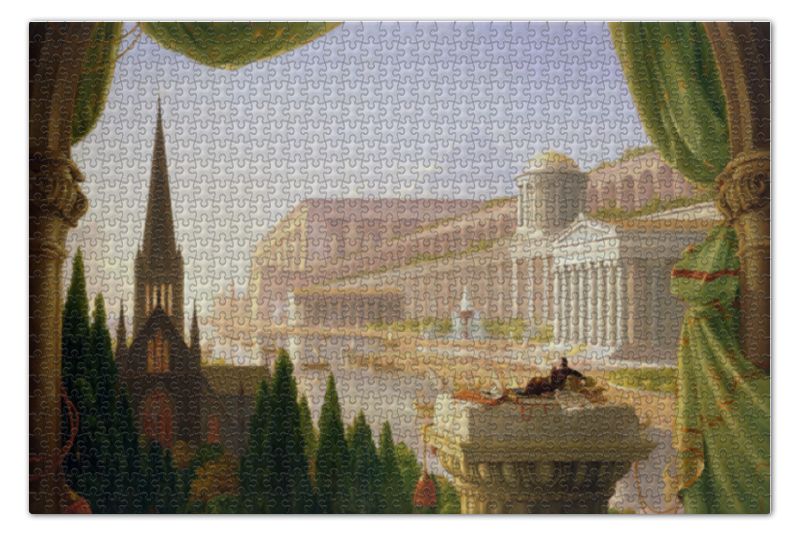 Пазл 73.5 x 48.8 (1000 элементов) Printio Мечта архитектора (томас коул) пазл 1000 томас кинкейд мост 57466