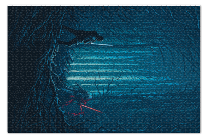 Пазл 73.5 x 48.8 (1000 элементов) Printio Звездные войны цена