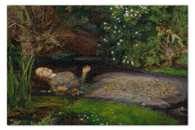 Пазл 73.5 x 48.8 (1000 элементов) Printio Офелия (картина милле) пазл 73 5 x 48 8 1000 элементов printio сад земных наслаждений