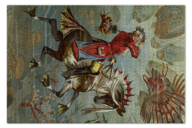 Пазл 73.5 x 48.8 (1000 элементов) Printio Барон мюнхгаузен коллективные сборники сказки немецких писателей барон мюнхгаузен