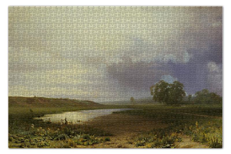 Пазл 73.5 x 48.8 (1000 элементов) Printio Мокрый луг пазл 73 5 x 48 8 1000 элементов printio сад художника в аржантее клод моне