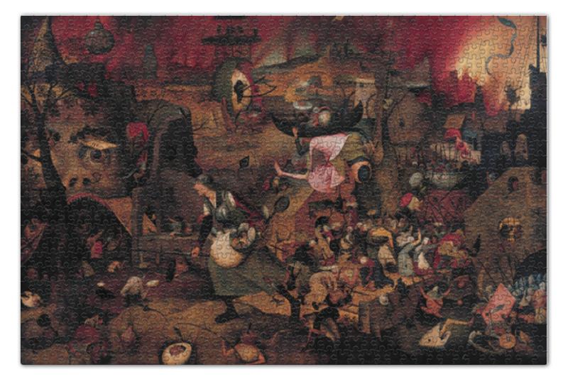 Пазл 73.5 x 48.8 (1000 элементов) Printio Безумная грета (питер брейгель (старший)) пазл 73 5 x 48 8 1000 элементов printio детские игры питер брейгель