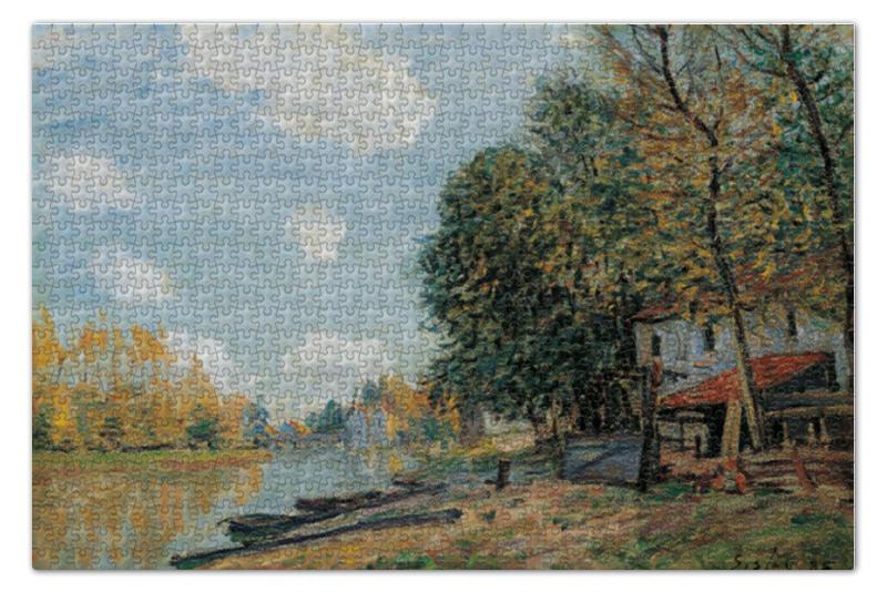 Фото - Пазл 73.5 x 48.8 (1000 элементов) Printio Берега реки луан (альфред сислей) сислей шедевры