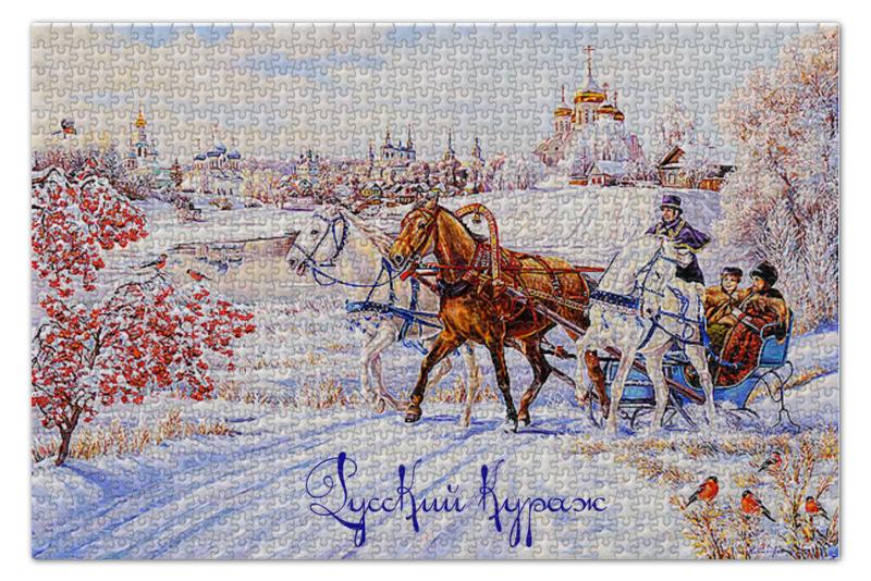 Пазл 735 x 488 1000 элементов Printio Русский кураж