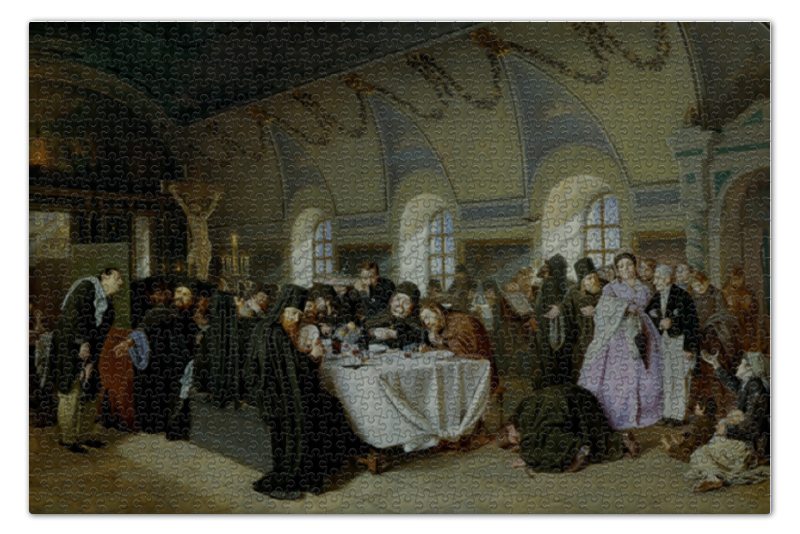 Пазл 73.5 x 48.8 (1000 элементов) Printio Трапеза (василий перов) милюгина е товарищество передвижных художественных выставок