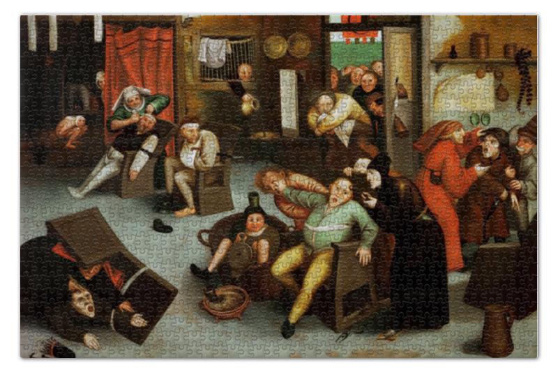 Printio Извлечение камня глупости (брейгель младший) пазл 73 5 x 48 8 1000 элементов printio детские игры питер брейгель