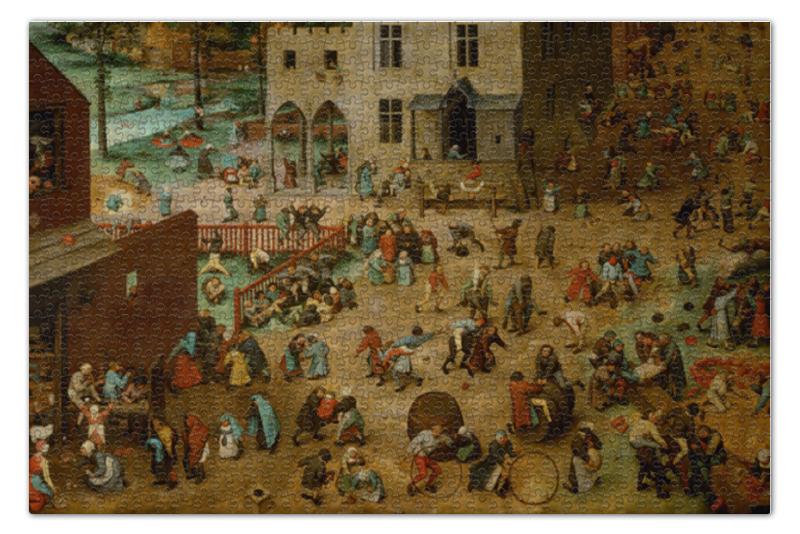 пазл 73 5 x 48 8 1000 элементов printio возвращение стада картина брейгеля Пазл 73.5 x 48.8 (1000 элементов) Printio Детские игры (питер брейгель)