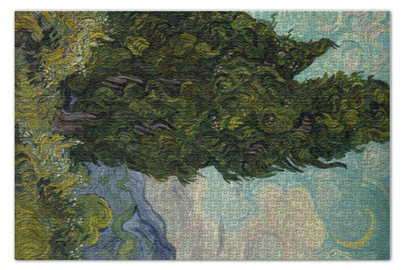 Фото - Пазл 73.5 x 48.8 (1000 элементов) Printio Кипарисы (винсент ван гог) korenaren vincent van gogh 1890 canvas art print with 1 5 inch deep frame black edge 14 x 16