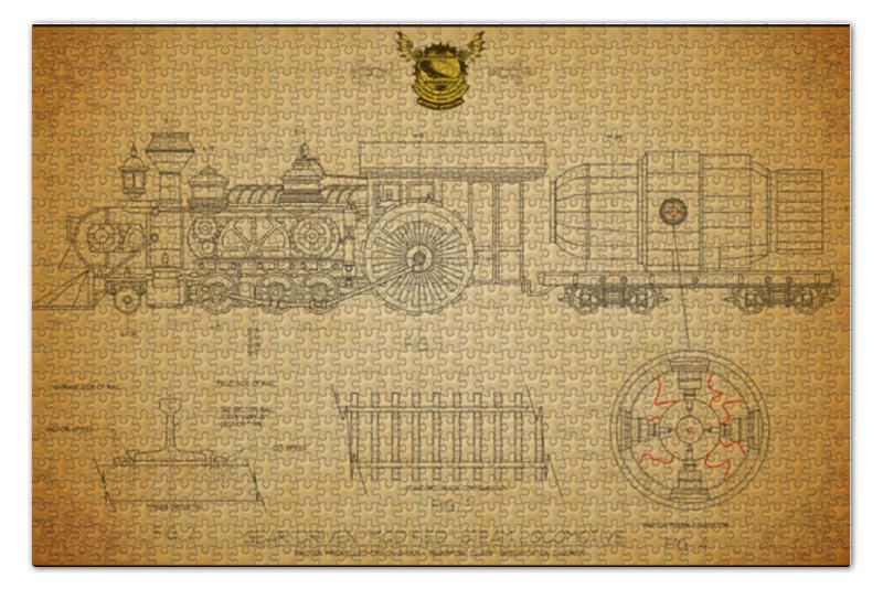 Пазл 73.5 x 48.8 (1000 элементов) Printio Steampunk locomotive пазл 73 5 x 48 8 1000 элементов printio фруктовый сад весной
