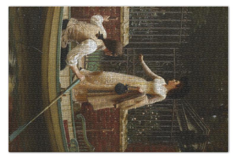 Пазл 73.5 x 48.8 (1000 элементов) Printio Бегство влюбленных (эдмунд лейтон) брем альфред эдмунд земноводные