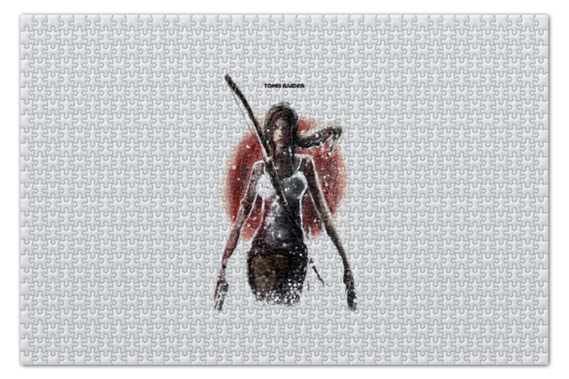 Пазл 735 x 488 1000 элементов Printio Лара крофт