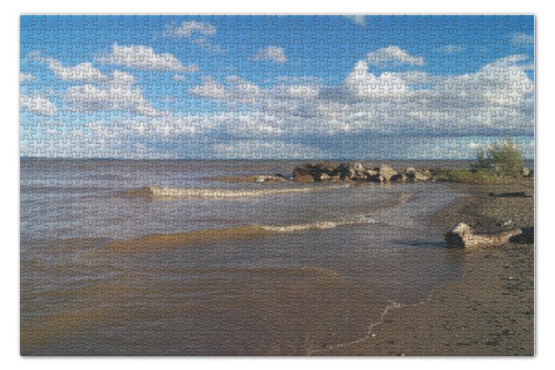 Пазл 73.5 x 48.8 (1000 элементов) Printio Берег оби в конце лета