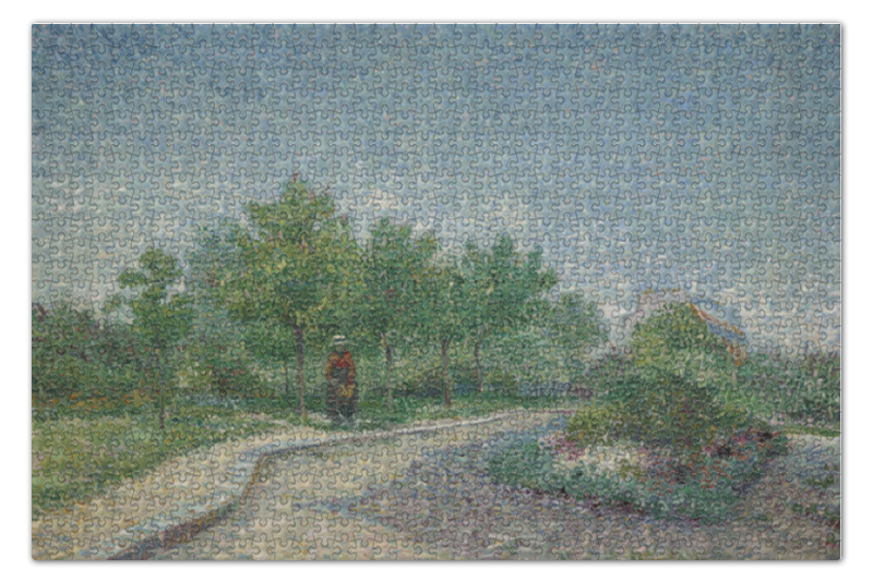 Пазл 73.5 x 48.8 (1000 элементов) Printio Тропинка в парке аргенсон (винсент ван гог) пазл 73 5 x 48 8 1000 элементов printio ирисы винсент ван гог