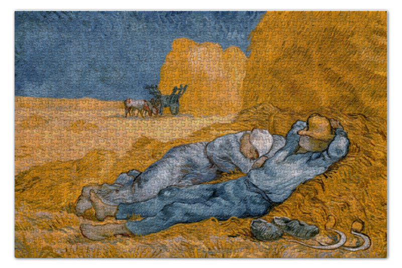 Пазл 73.5 x 48.8 (1000 элементов) Printio Полдень: отдых от работы пазл 73 5 x 48 8 1000 элементов printio сад земных наслаждений