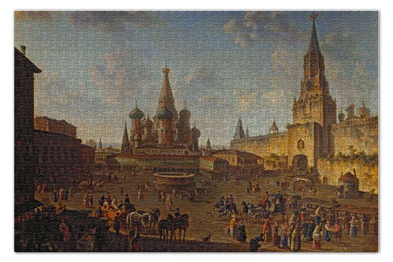 Пазл 73.5 x 48.8 (1000 элементов) Printio Красная площадь в москве (фёдор алексеев) ведуты мир джалала