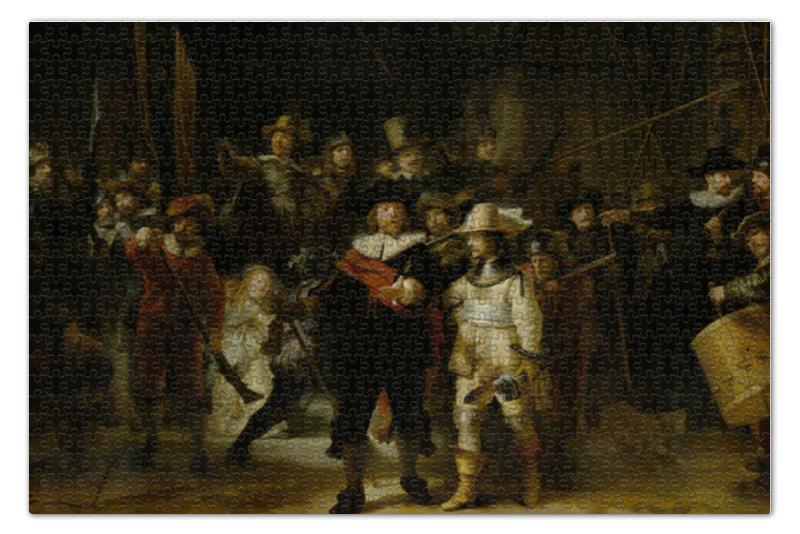цены Пазл 73.5 x 48.8 (1000 элементов) Printio Ночной дозор (картина рембрандта)