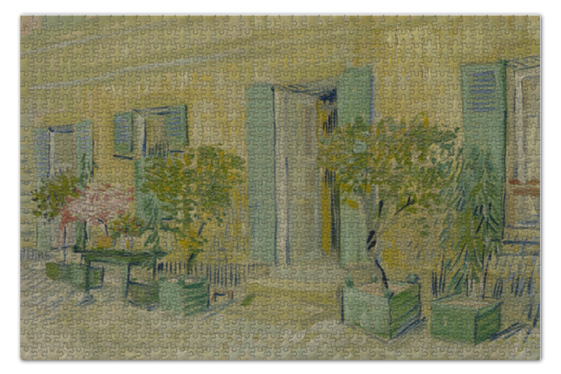 Пазл 73.5 x 48.8 (1000 элементов) Printio Экстерьер ресторана в аньере (винсент ван гог)