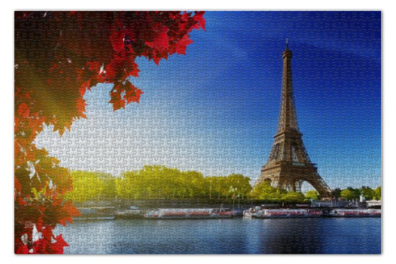 Фото - Пазл 73.5 x 48.8 (1000 элементов) Printio Эйфелева башня пазл конструктор 3d ice puzzle эйфелева башня