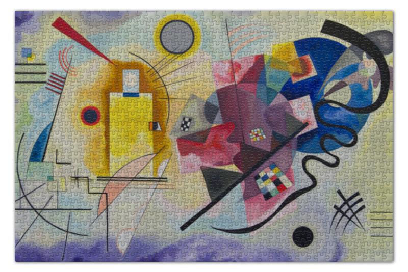Пазл 73.5 x 48.8 (1000 элементов) Printio Желтый, красный, синий (василий кандинский) шапка унисекс с полной запечаткой printio желтый красный синий василий кандинский