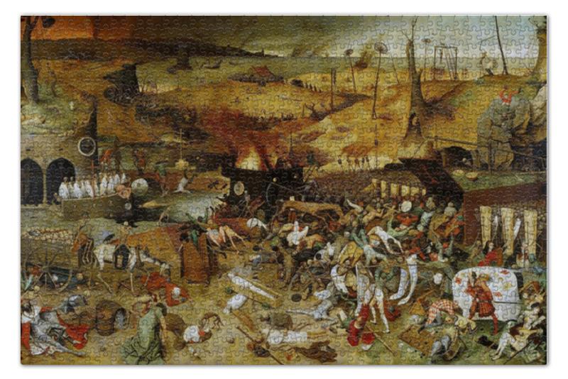 пазл 73 5 x 48 8 1000 элементов printio возвращение стада картина брейгеля Пазл 73.5 x 48.8 (1000 элементов) Printio Триумф смерти (питер брейгель старший)