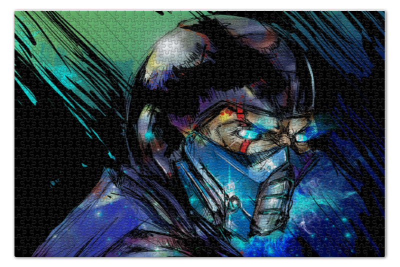Пазл 73.5 x 48.8 (1000 элементов) Printio Mortal kombat x (sub-zero) пазл 73 5 x 48 8 1000 элементов printio сестры берта моризо