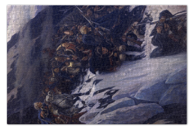 Пазл 73.5 x 48.8 (1000 элементов) Printio Переход суворова через альпы (в. и. суриков) пазл 73 5 x 48 8 1000 элементов printio сад земных наслаждений