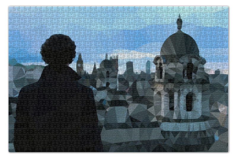 Пазл 73.5 x 48.8 (1000 элементов) Printio Low poly sherlock