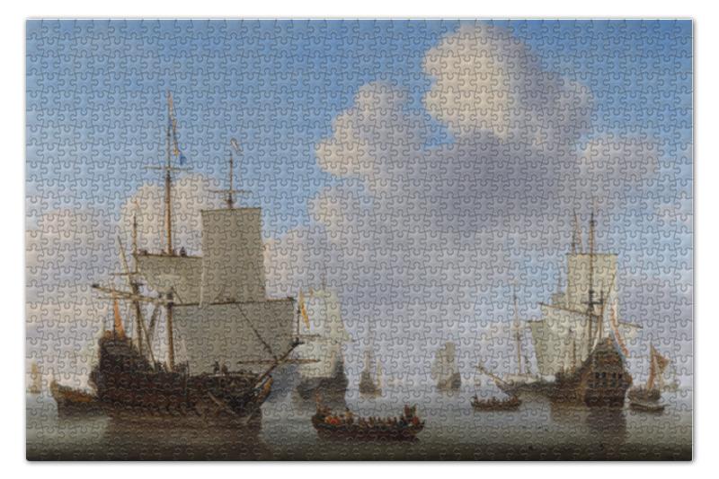 Пазл 73.5 x 48.8 (1000 элементов) Printio Штиль (виллем ван де велде младший)