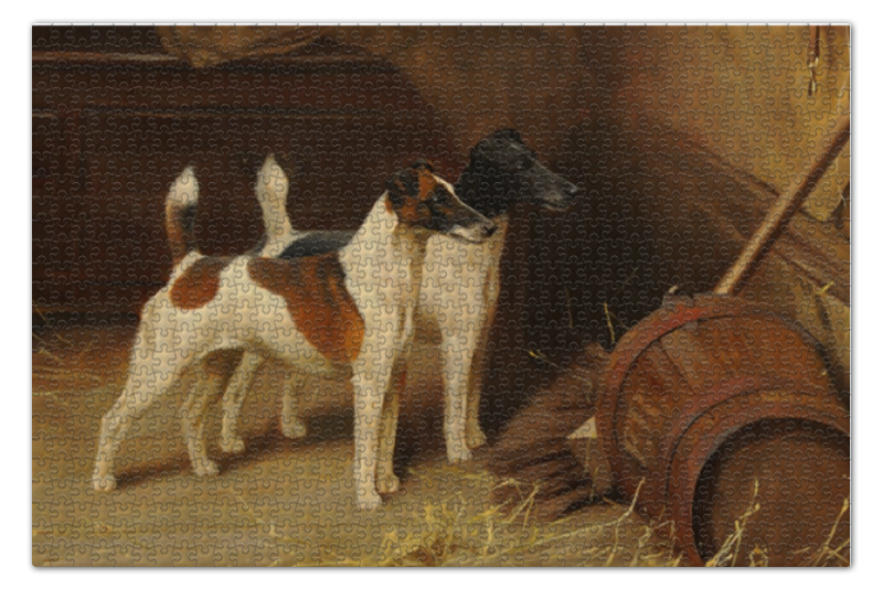 Пазл 735 x 488 1000 элементов Printio 2018 год желтой собаки