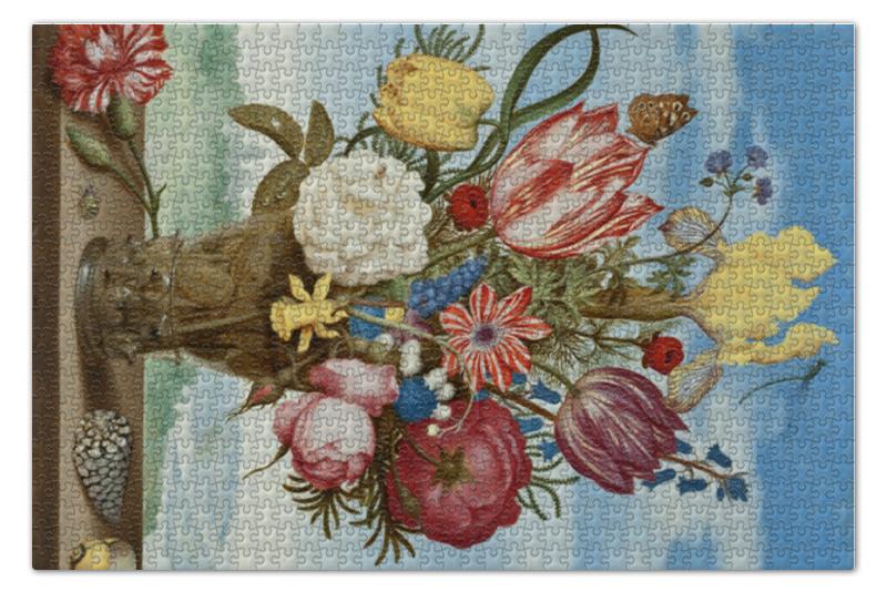 Пазл 73.5 x 48.8 (1000 элементов) Printio Букет цветов на полке (амброзиус босхарт) амброзиус босхарт