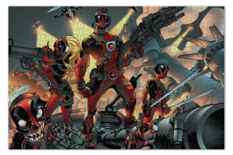 Пазл 73.5 x 48.8 (1000 элементов) Printio Deadpool family пазл wood family of children 12 3d