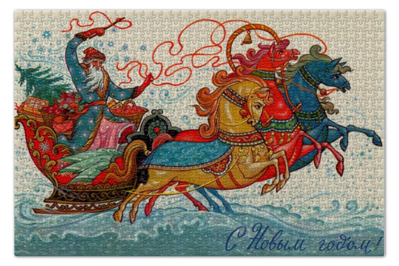 Пазл 73.5 x 48.8 (1000 элементов) Printio Дед мороз puzzle 1000 найди 16 лошадей 79802