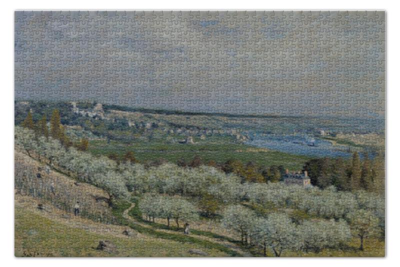 Пазл 73.5 x 48.8 (1000 элементов) Printio Террасы в сен-жермен весной пазл 73 5 x 48 8 1000 элементов printio фруктовый сад весной