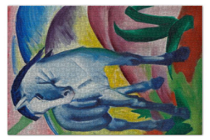 Пазл 73.5 x 48.8 (1000 элементов) Printio Синий конь (франц марк) пазл 160 элементов конь 03052