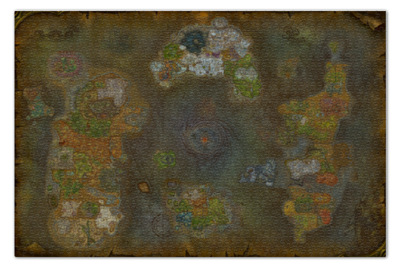 Пазл 73.5 x 48.8 (1000 элементов) Printio World of warcraft world map/варкрафт карта map of fates