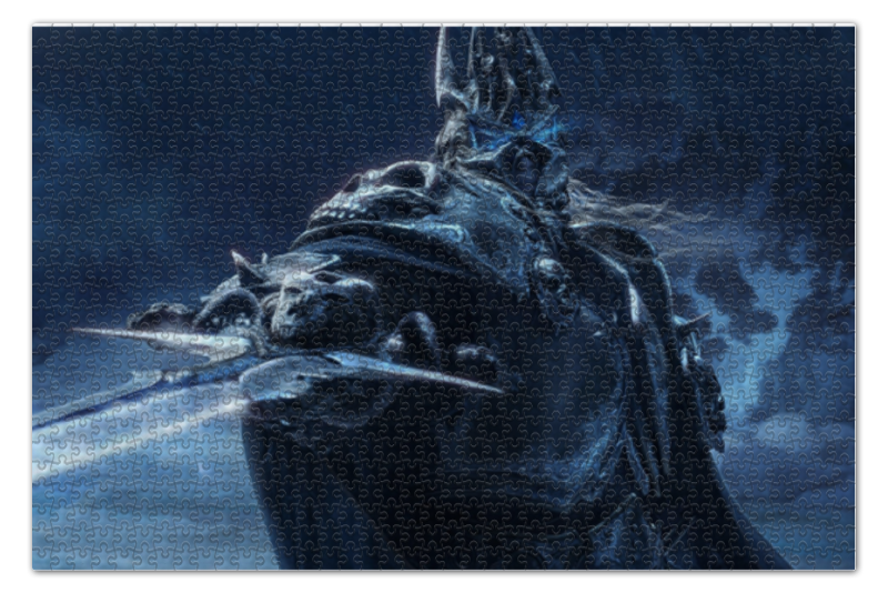 Пазл 73.5 x 48.8 (1000 элементов) Printio Lich king world of warcraft world of wow arthas menethil lich king deluxe action figure statue nib