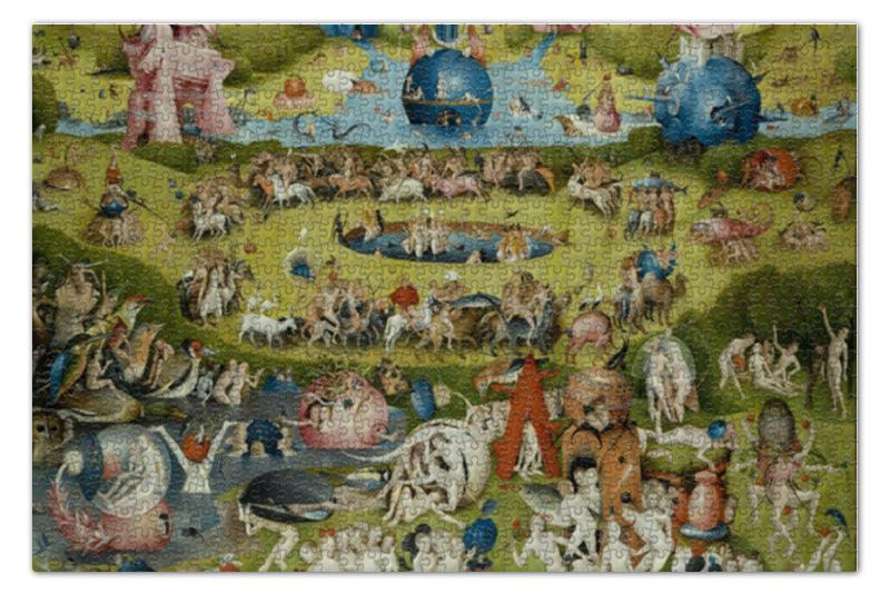 Пазл 73.5 x 48.8 (1000 элементов) Printio Сад земных наслаждений футболка print bar сад земных наслаждений