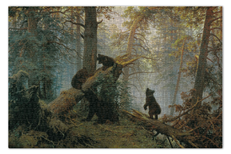 Пазл 73.5 x 48.8 (1000 элементов) Printio Утро в сосновом лесу утро 30 x 45см