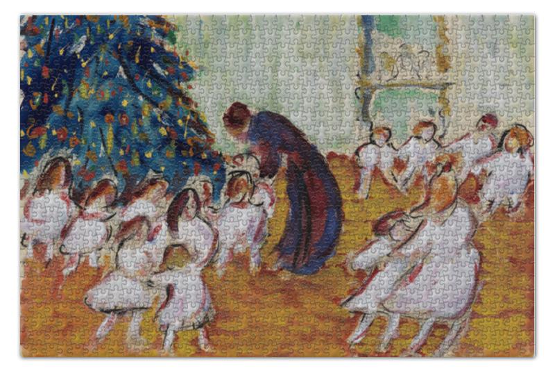 Пазл 73.5 x 48.8 (1000 элементов) Printio Рождественская елка (марианна верёвкина)