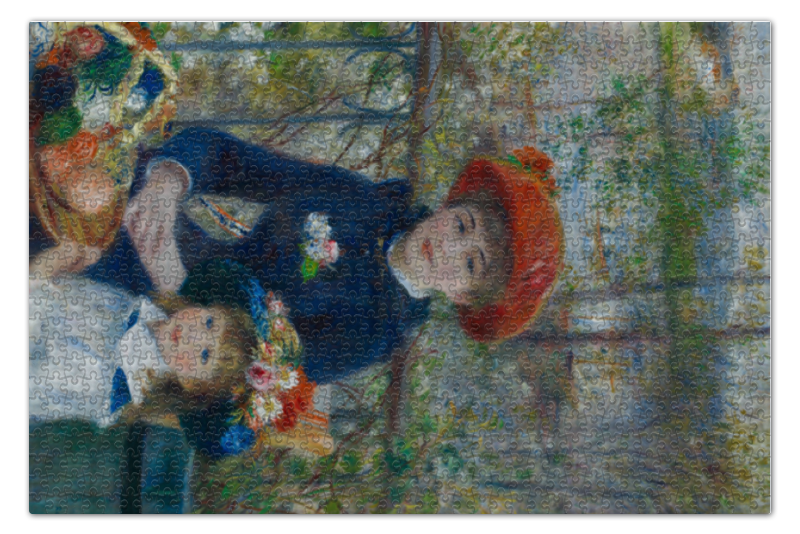 Пазл 73.5 x 48.8 (1000 элементов) Printio Две сестры (пьер огюст ренуар) пьер огюст ренуар