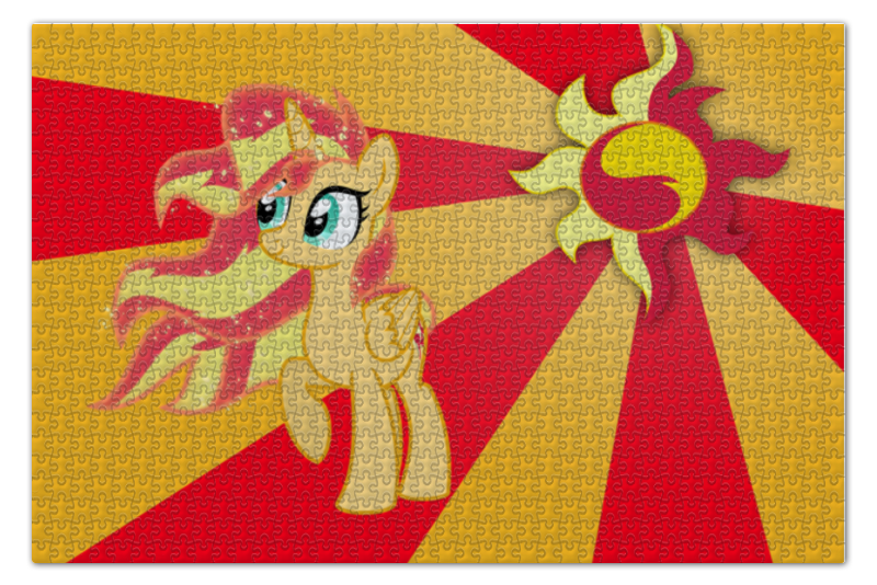 Пазл 73.5 x 48.8 (1000 элементов) Printio Sunset shimmer color line пазл 73 5 x 48 8 1000 элементов printio rainbow dash color line