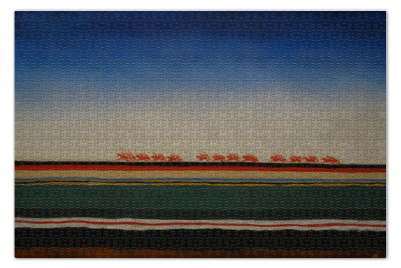 Пазл 73.5 x 48. (1000 элементов) Printio Скачет красная конница (казимир малевич)