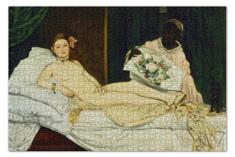 Пазл 73.5 x 48.8 (1000 элементов) Printio Олимпия (картина мане) 1000 шедевров рисунок